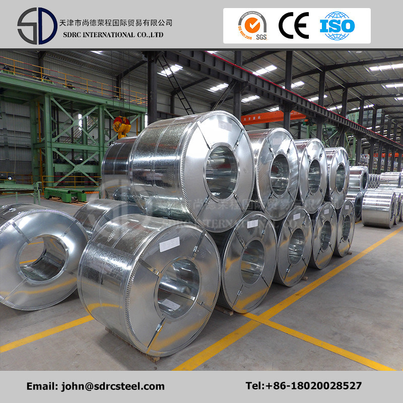 0.13-2.0mm 40g-275g Galvanized Steel Coil and Sheet for Construction
