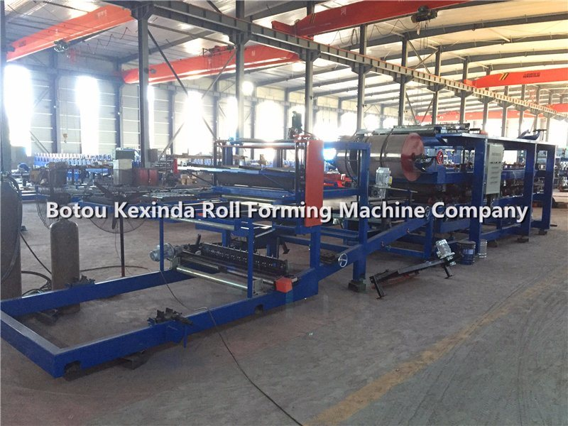 EPS/Rock Wool Roll Forming Machine, EPS/Rock Wool Sandwich Panel Production Line, EPS Continuous Sandwich Panel Production Line pictures & photos
