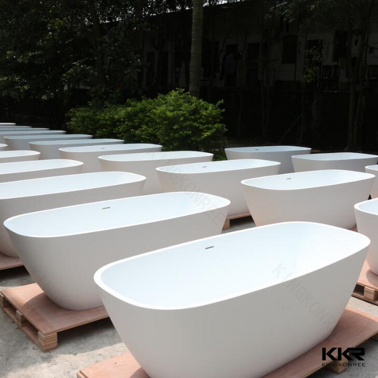 China Custom Made Polymer Stone Freestanding Black Bath Tub From ...