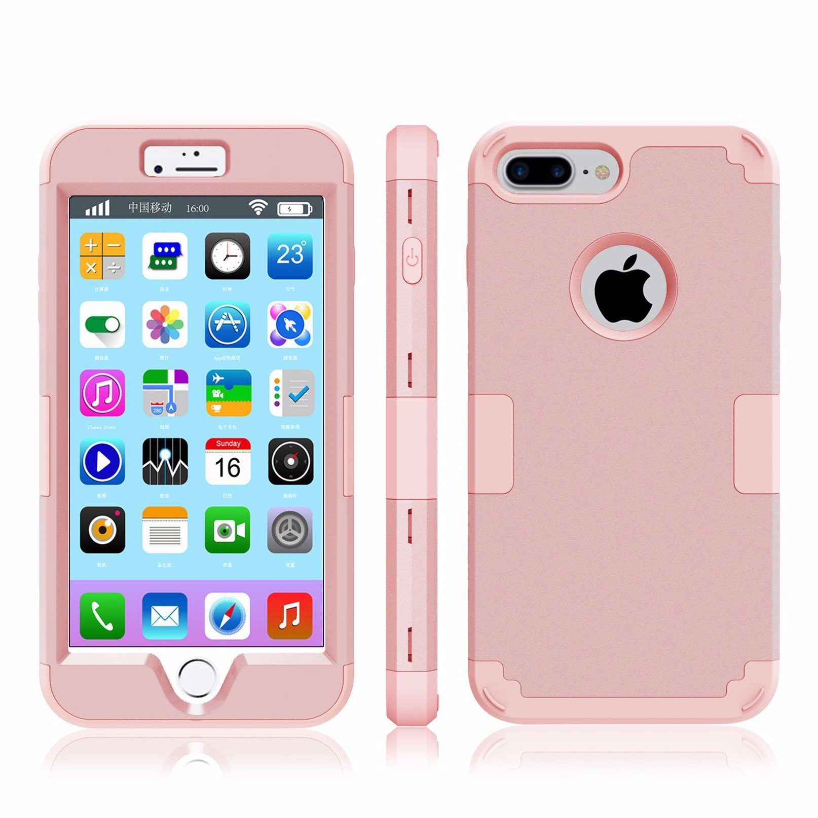 iPhone 7 Plus Hybrid Heavy Duty Shockproof Full-Body Protective Case