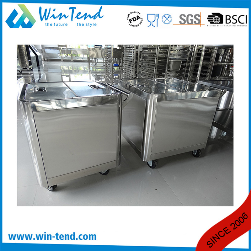 Stainless Steel Smart Hand Push Flour Trolley with Extra Handle pictures & photos