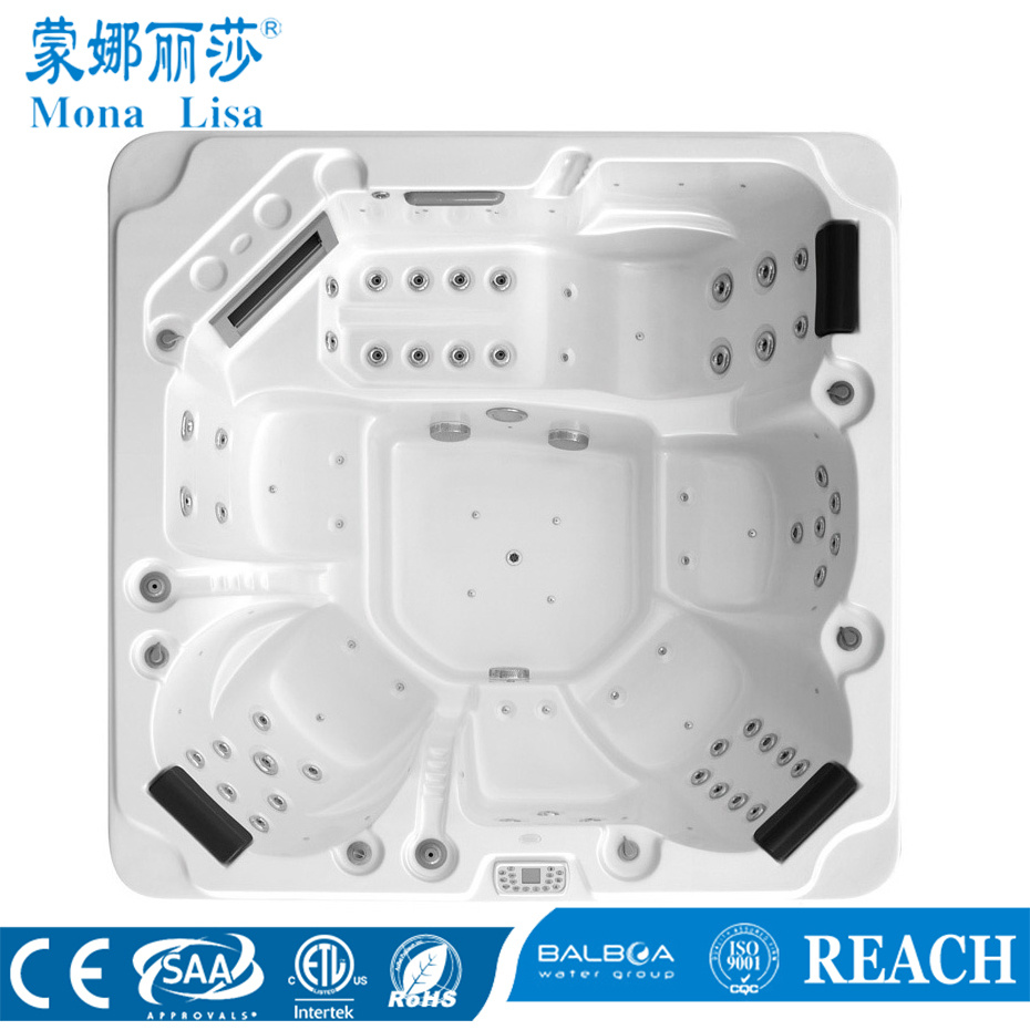 China Free Standing Square Deluxe Aqua Hydro Air Jets Whirlpool ...