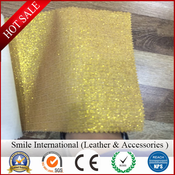 Glitter Artificial Leather for New Design pictures & photos