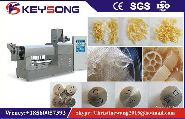 Single Screw Pasta Macaroni Puff Snack Food Extruder