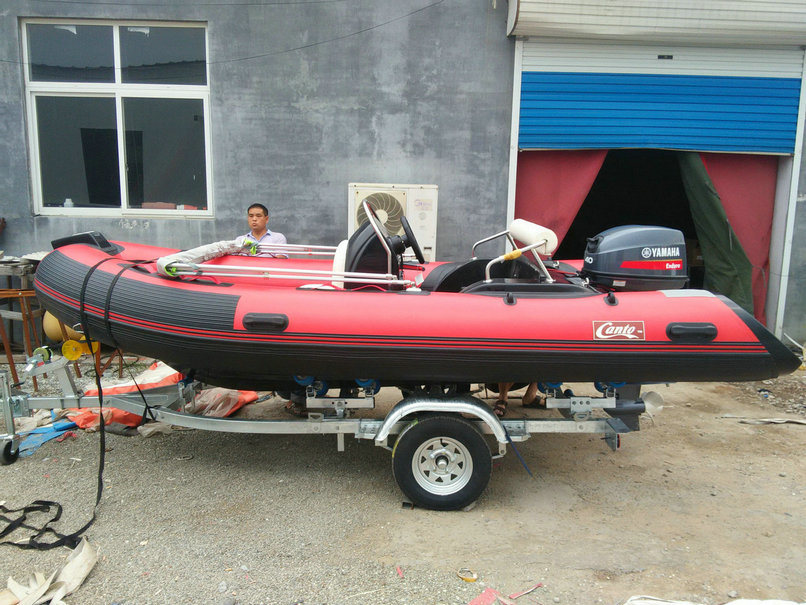 13.8ft Rib420c Recsue Boat with CE 4.2m Fiberglass Hul Rigidl Inflatable Boat