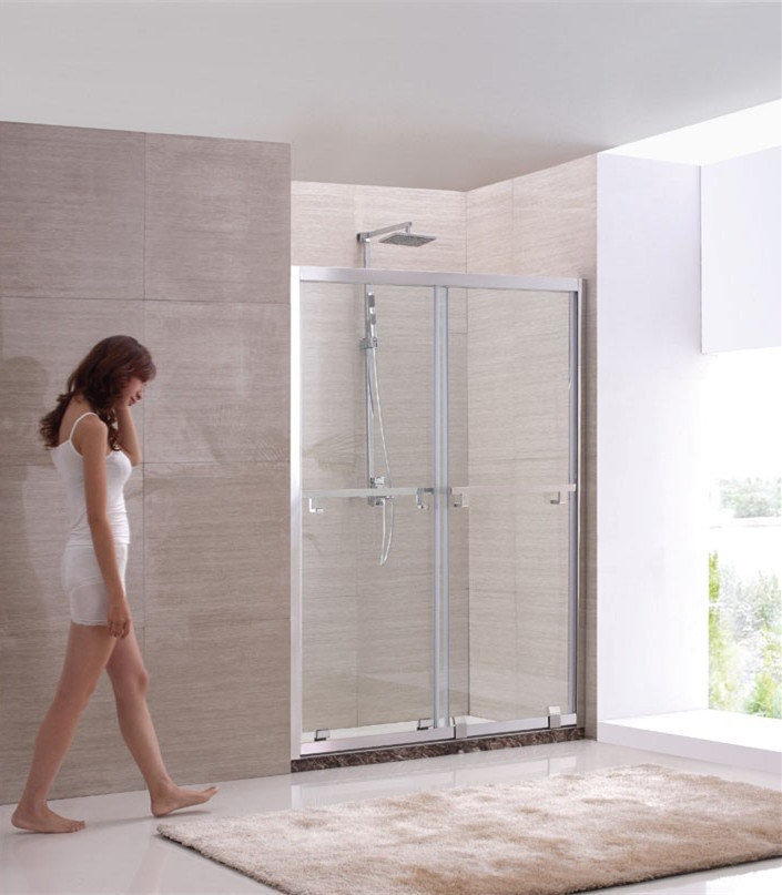 China Brushed stainless Steel Frame Luxury Shower Screen Shower Door ...