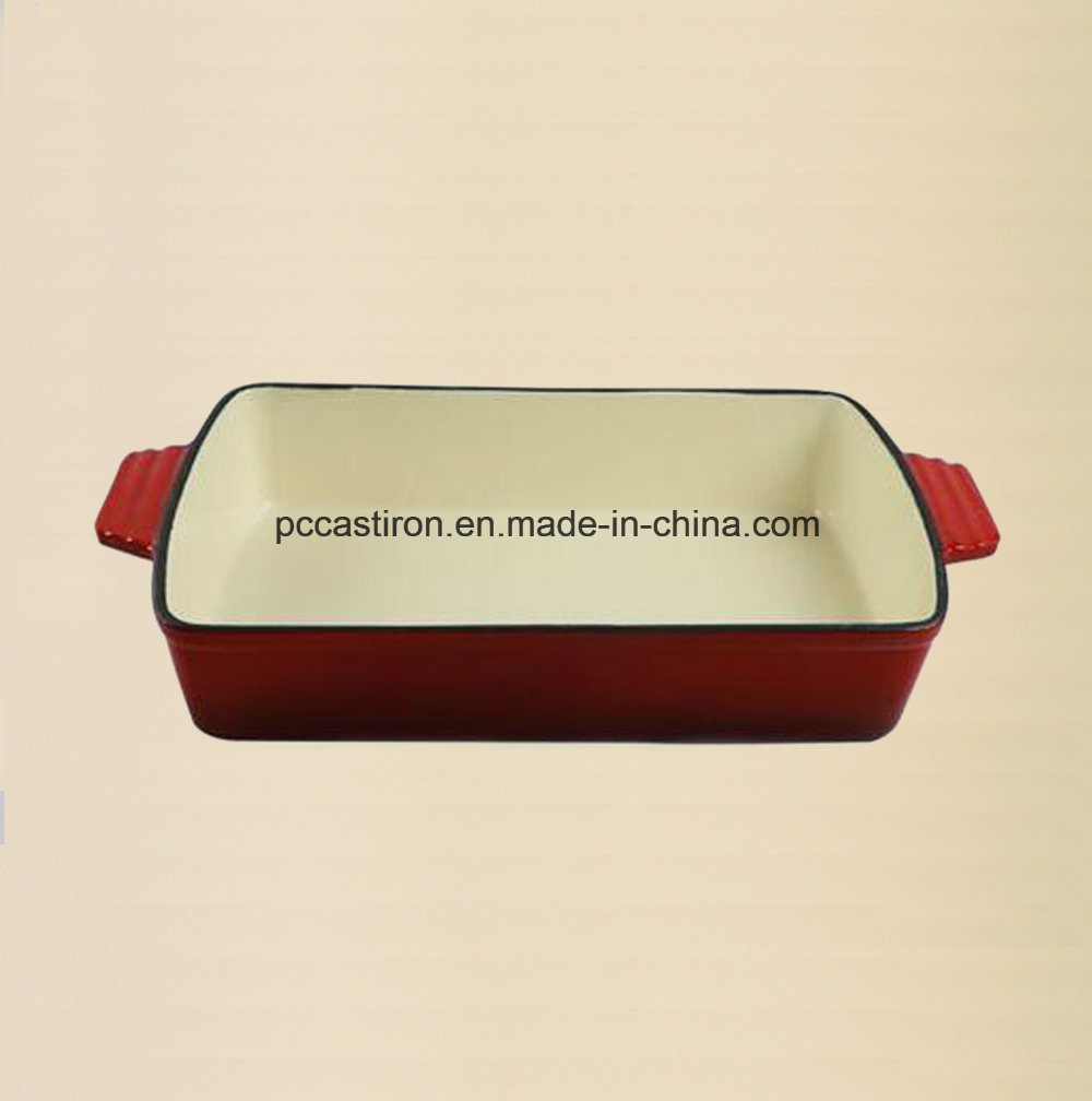 Enamel Cast Iron Roasting Pan Manufacturer From China pictures & photos