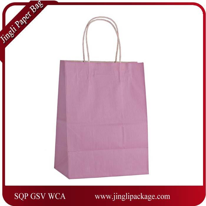 China Colorful Kraft Paper Gift Bag Wedding Party Handle Paper Gift