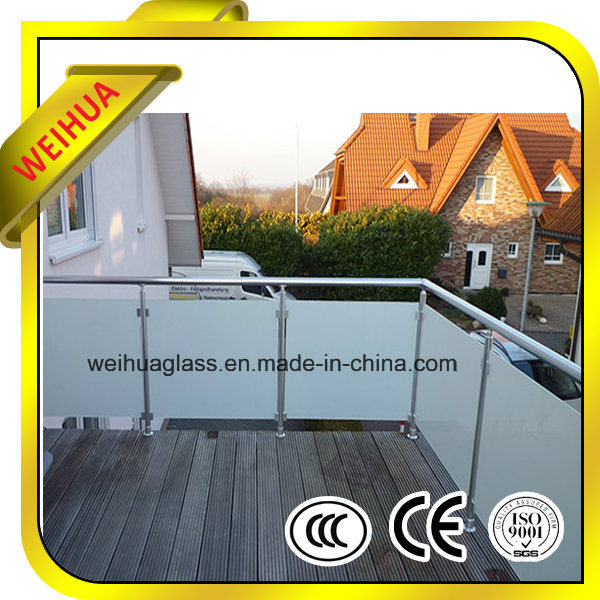 Milk White Laminated Glass Railings pictures & photos