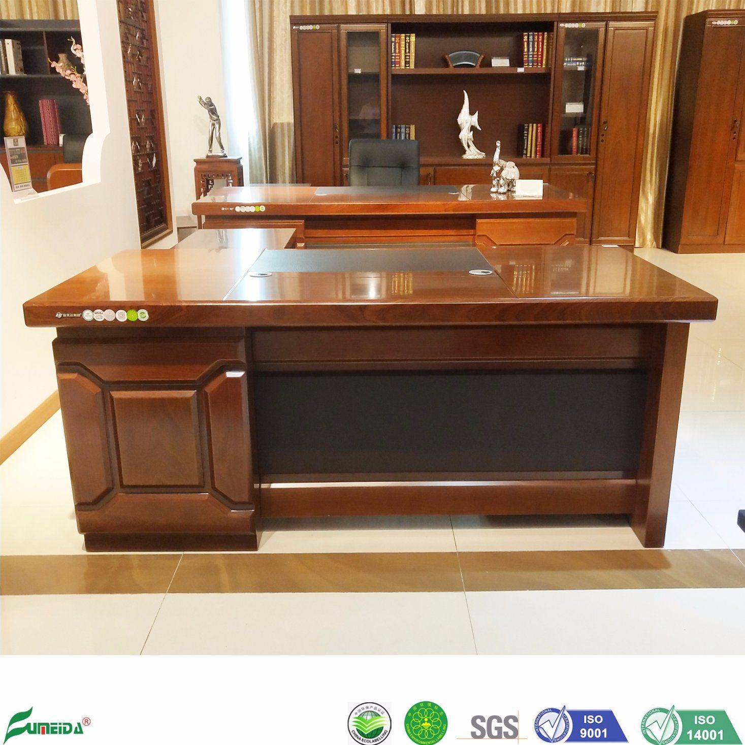 China Big Size Modern Mdf Wood Veneer L Shape Executive Office Desk B1705 China Executive Office Desk L Shape Office Desk