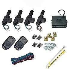 [Hot Item] Universal Vehicle Remote Central Lock Keyless Entry System 2 Car  Door Remote Central Locking Kit + Anti-Theft Alarm Tool Set