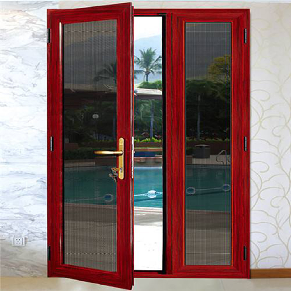 High Quality China Made Decorative Glass Storm Doors Aluminum Door