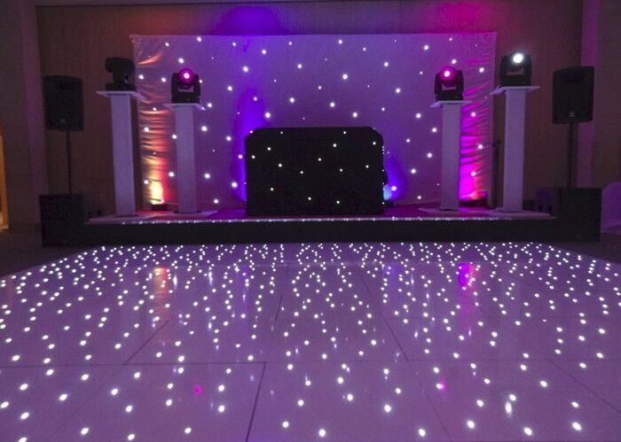 Free Shipping 12*12black and White LED Starlit Dance Floor DJ LED Sensitive Light for Wedding Party Decoration pictures & photos