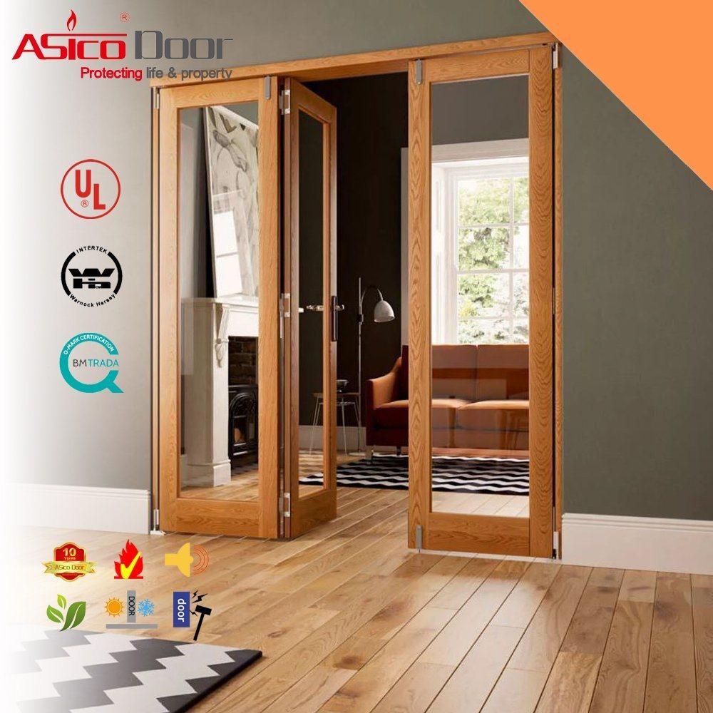 Steel Metal Glass Door With Wooden Frame