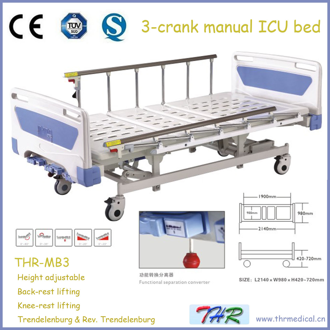 3 Crank Manual Hospital Bed Manual Guide