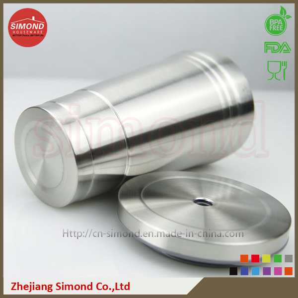 500ml Stainless Steel Vacuum Cup with Metal Straw
