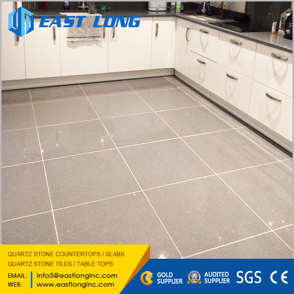 China Building Material Quartz Stone Tiles For Flooring Wall Bathroom Kitchen Tile Sgs Ce Artificial