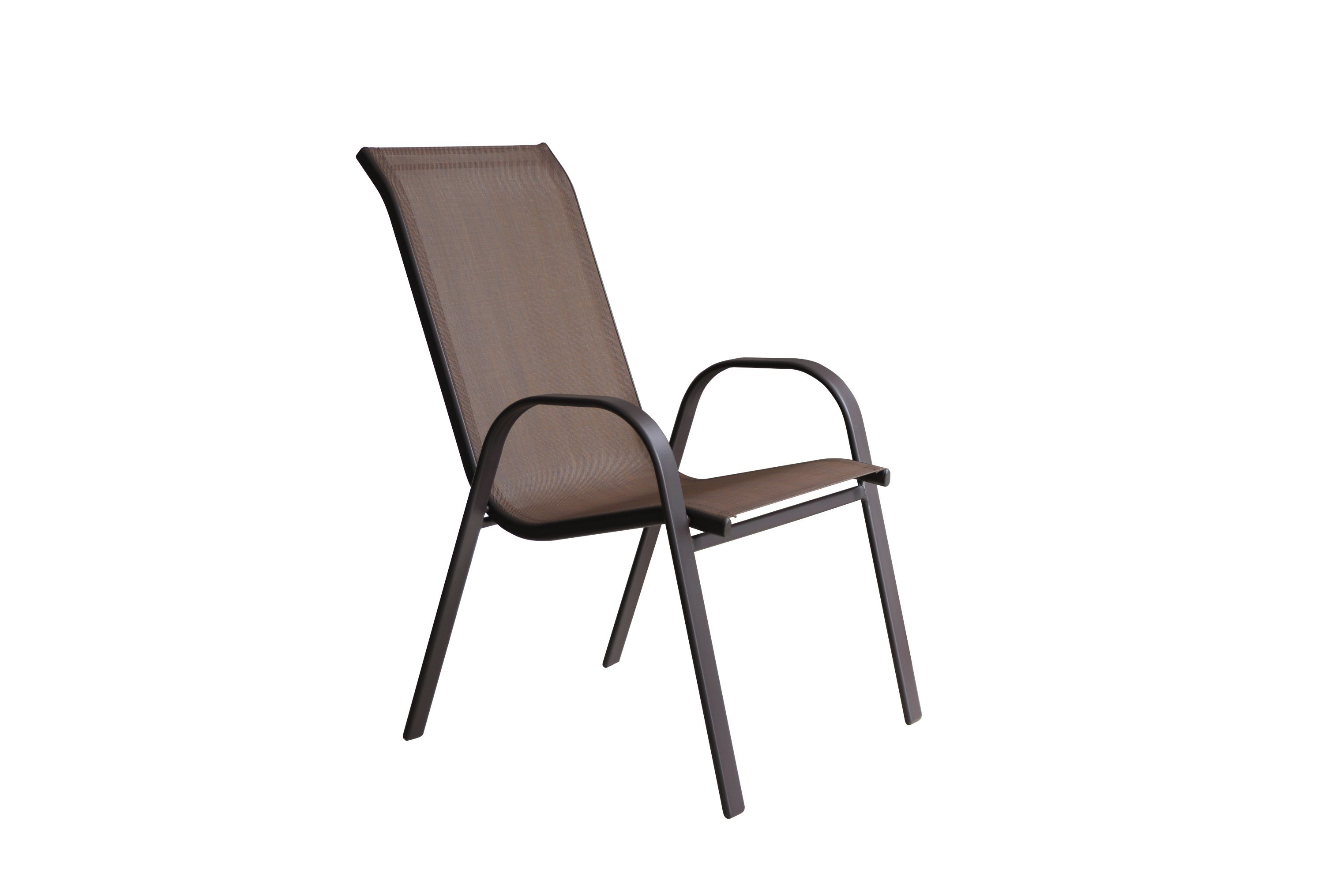 Hot Item Manufacturer Indoor And Outdoor Garden Patio Steel Frame Grey Textilene Dining Chair Sling Chair