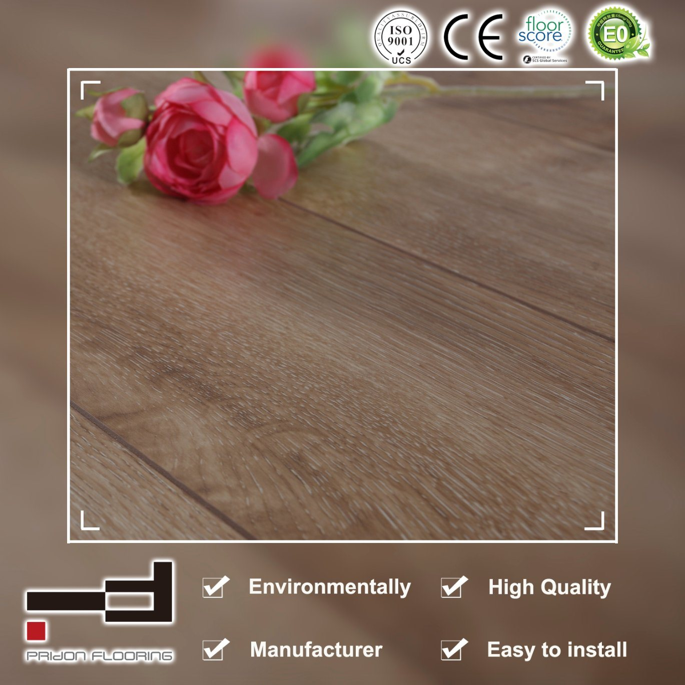 China 8mm Small Embossed Water Proof Waxed Easy Lock System Laminate Flooring Floor