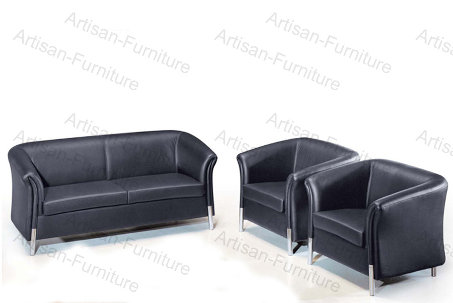 Pleasing China Modern Black Leather Office Hotel Reception Lobby Sofa Onthecornerstone Fun Painted Chair Ideas Images Onthecornerstoneorg
