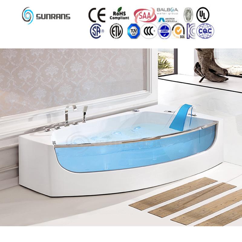 China Simple Design Round Whirlpool Massage Bath Tub with Whirlpool ...