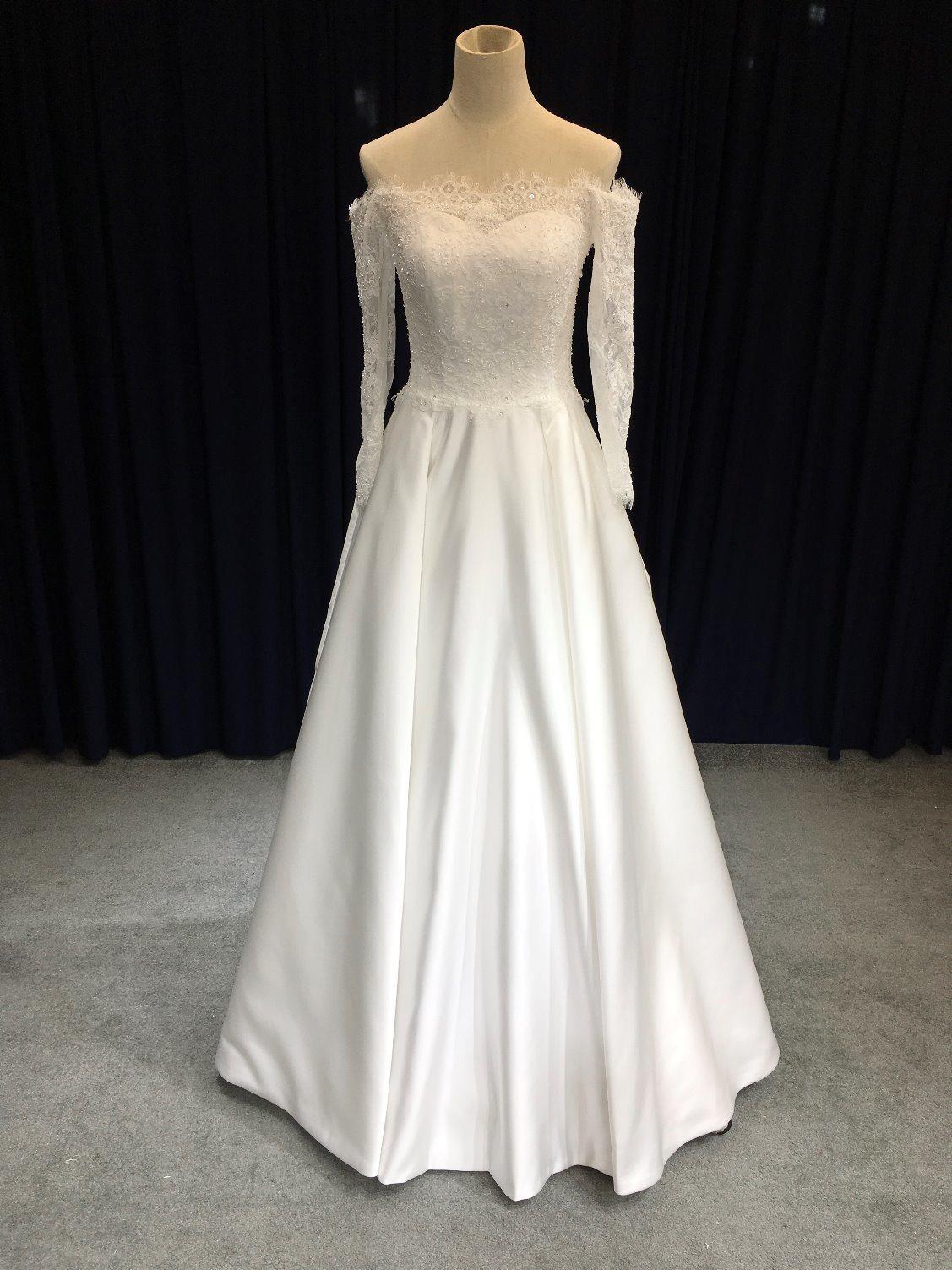 2f8c280aaaf China Aoliweiya Sheath Off Shoulder Plain Wedding Dress