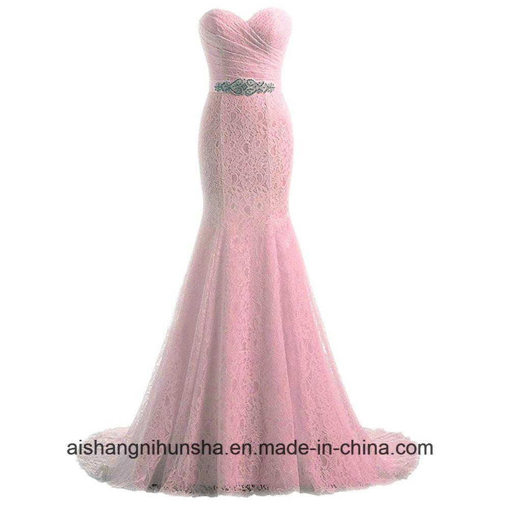 China Elegant Sweetheart Lace Mermaid Wedding Dress with Belt ...
