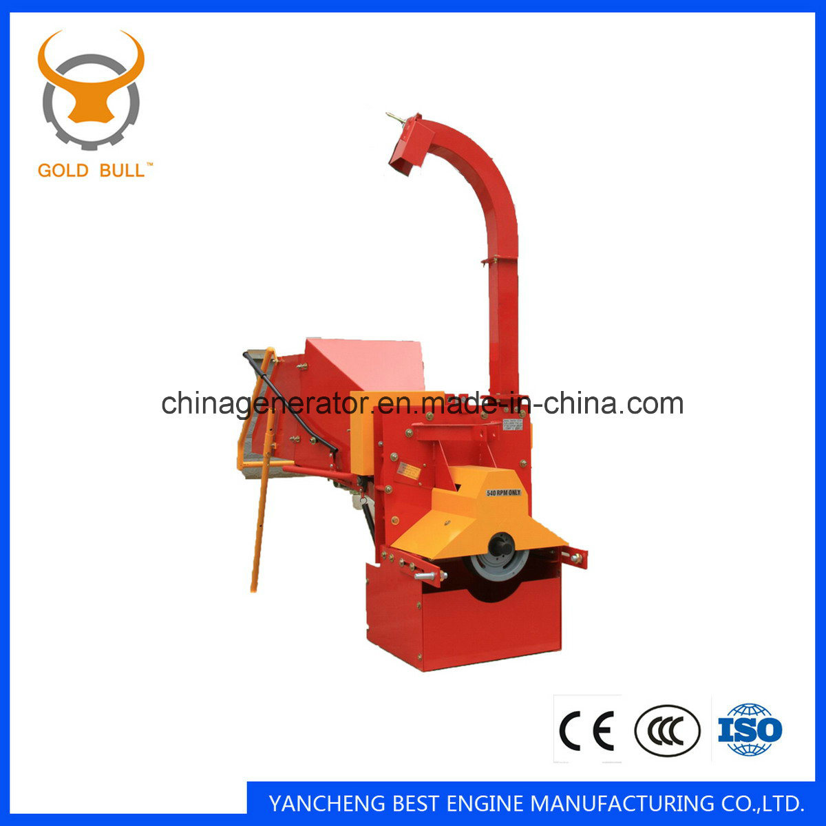 China Wc-6 Tractor Pto Wood Chipper Shredder with Ce Approval ...