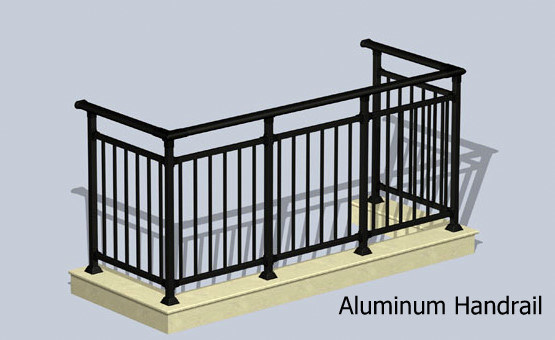 Aluminum Glass Handrail (railings & handrails)