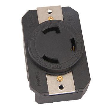 wiring device nema l5-30r ul twist locking receptacle, 3 prong, 30a/125v  industrial grade