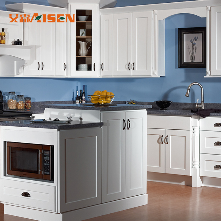China American Style Simple Designs Wood Kitchen Cabinets For