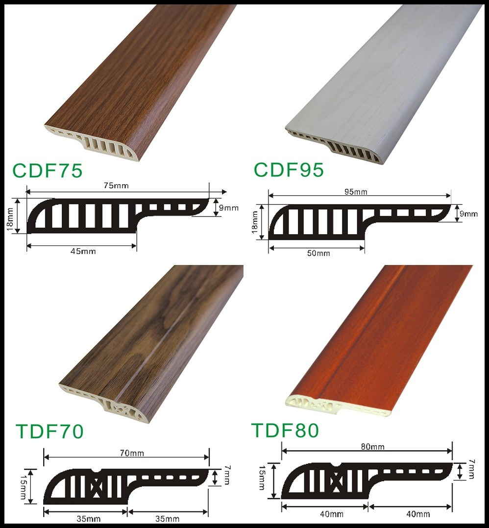 China Floor Skirting Board With 18mm Gap For Laminate Flooring Pvc Building Materials