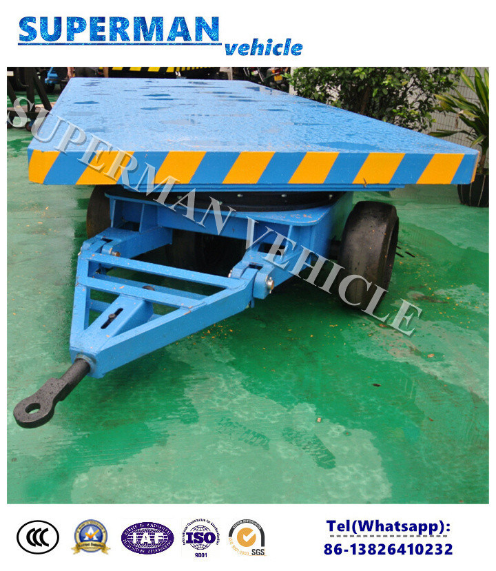 10t Flatbed Cargo Transport Industrial Drawbar Trailer