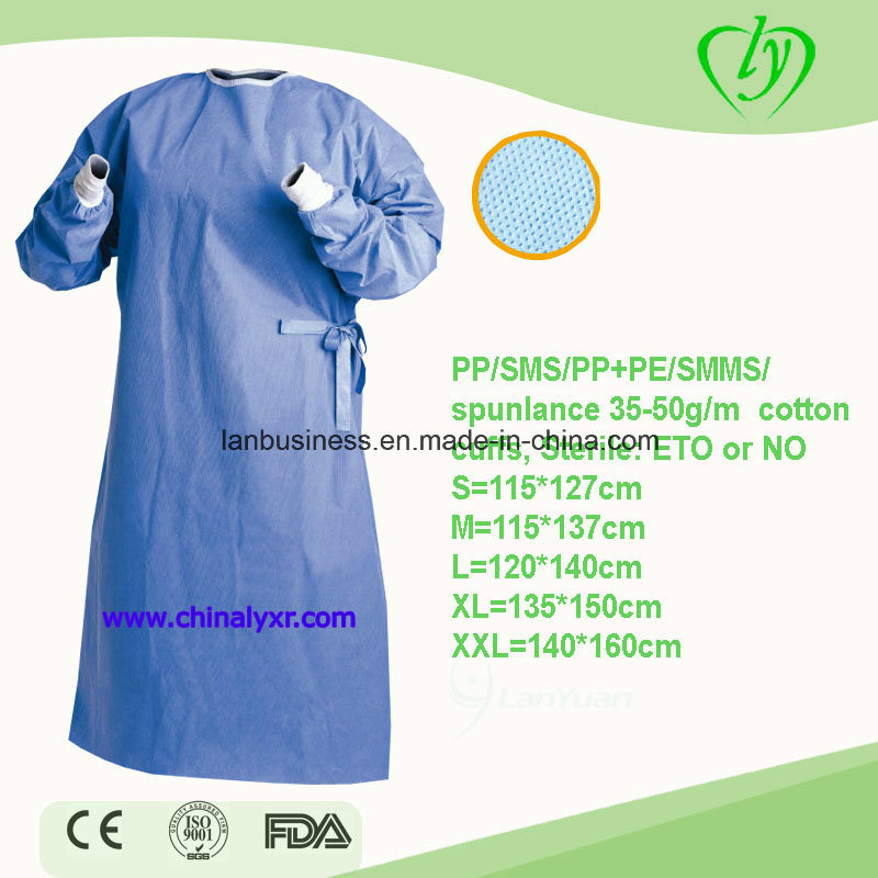 China Reinforced SMS/SMMS Surgical Gown Disposable Reinforced ...