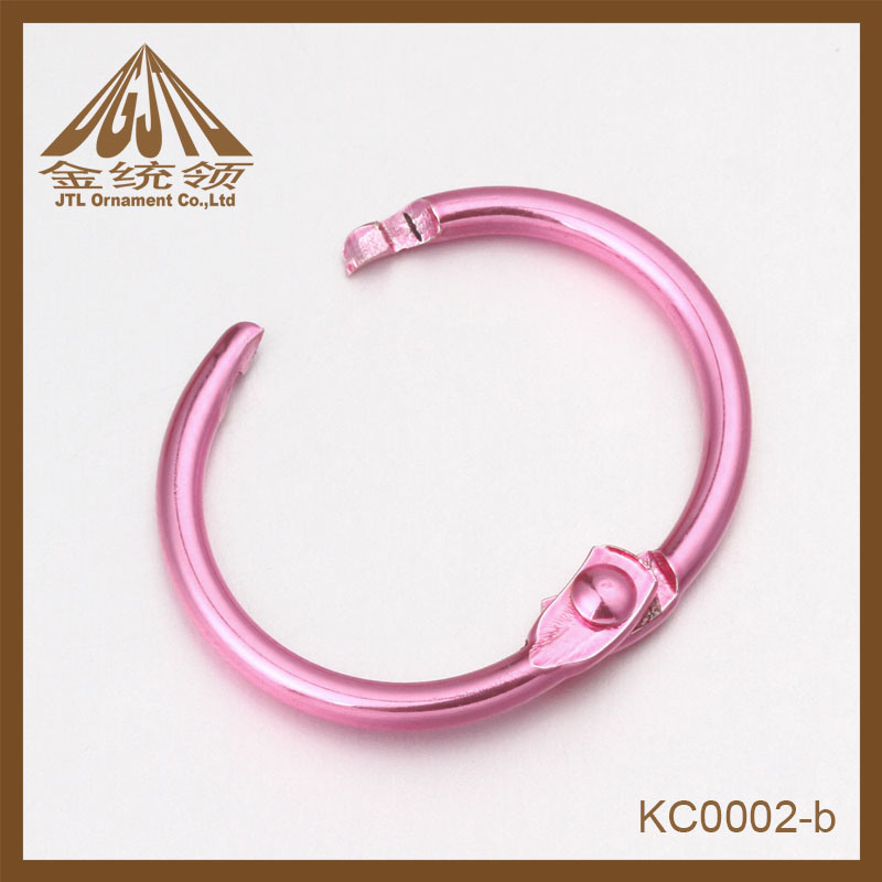 Fashion Nice Quality Small Size Pink Metal Ring Clips Wholesale