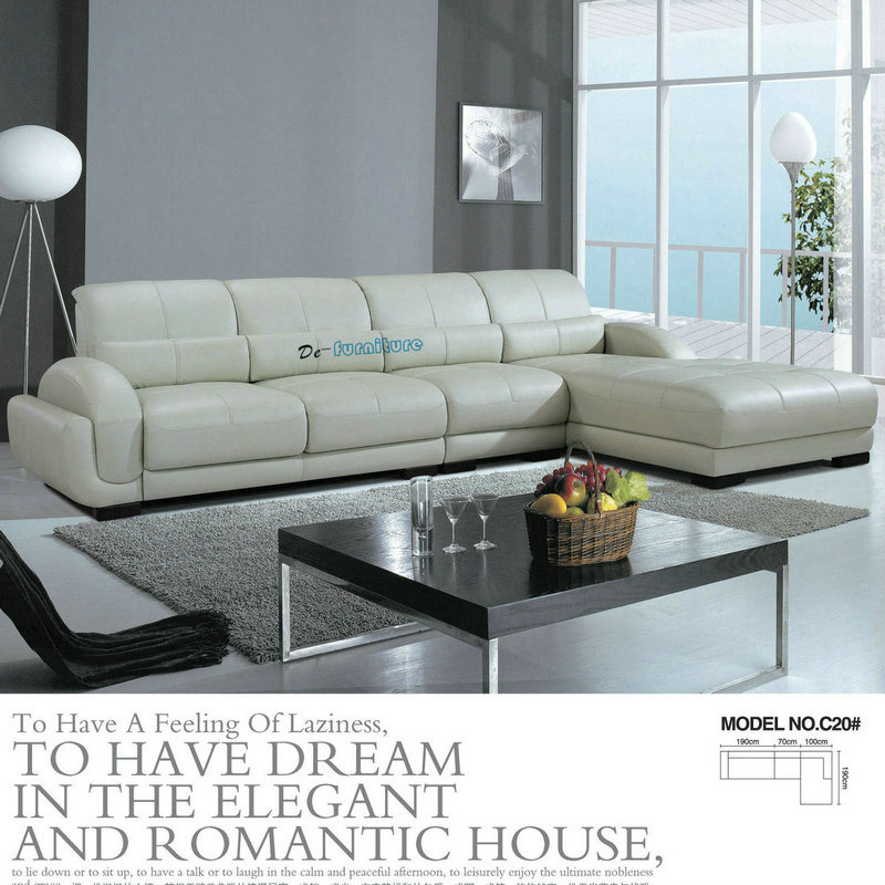 [Hot Item] Factory Wholesale Price Modern Living Room Leather Sofa  Furniture (C20)