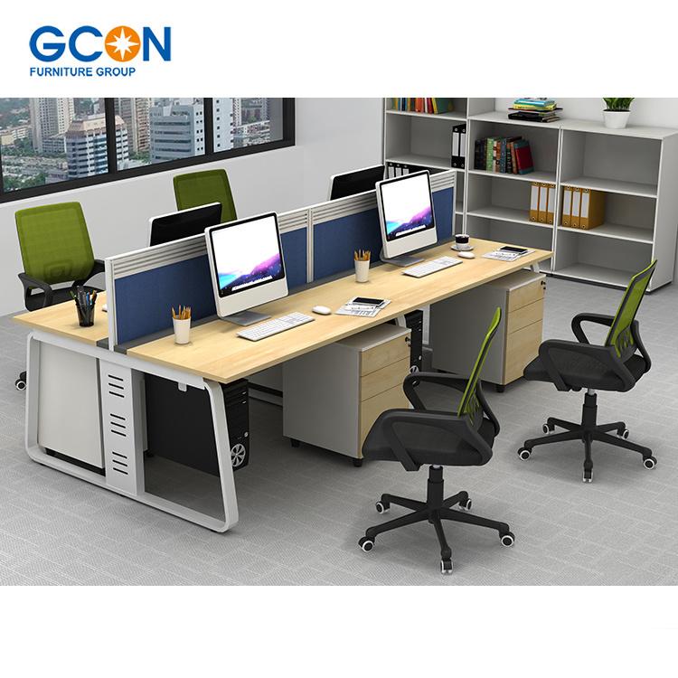 Aluminum Office Partition 4 Person Desk Small Cubicle