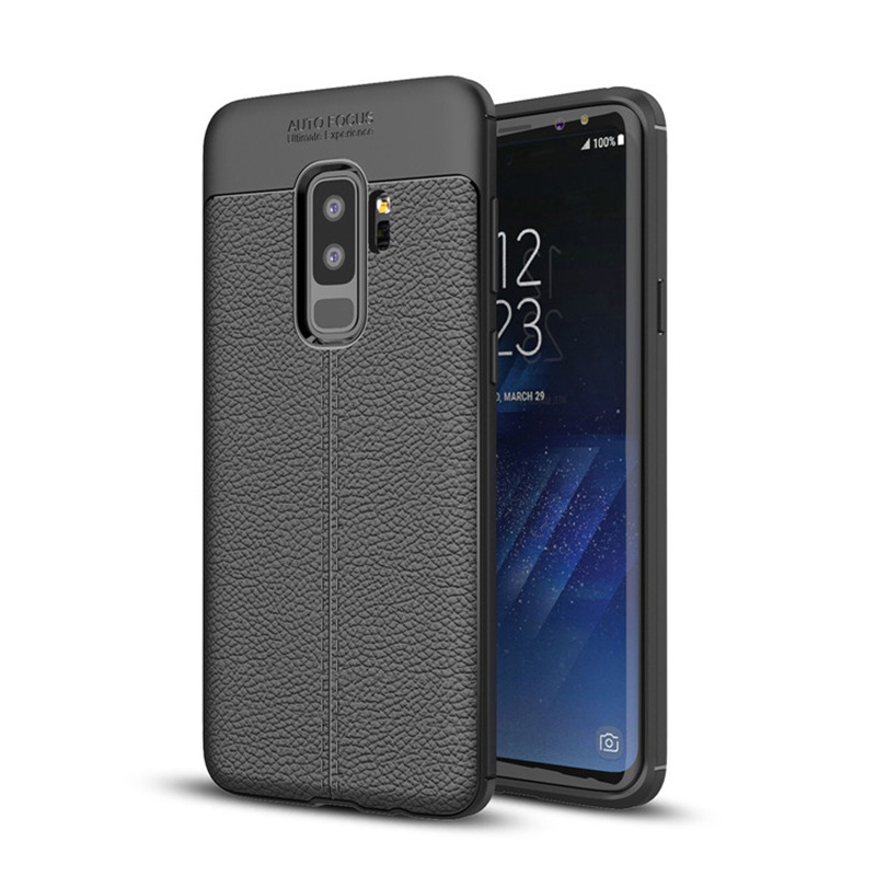 promo code 9a093 8a61c [Hot Item] Soft TPU Leather Silicone Protective S9 Cover Shell for Samsung  Galaxy S9 Plus Cases