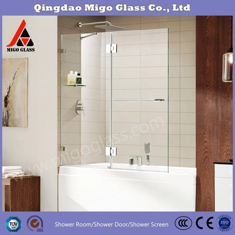 China Frameless Bathtub Screen Shower Screen Shower Door 12mm Thickness Tempered Glass Shower Panels China Shower Glass Panels Bathroom Glass