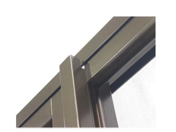 China Bronze Color 3 Panel Glass Sliding Door For Meeting Room With