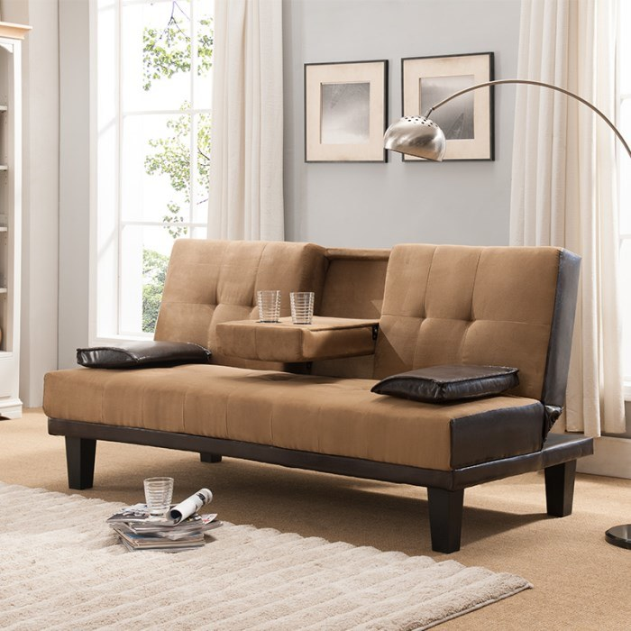 China Furniture Functional Home Leisure, Brown Material Sofa Bed