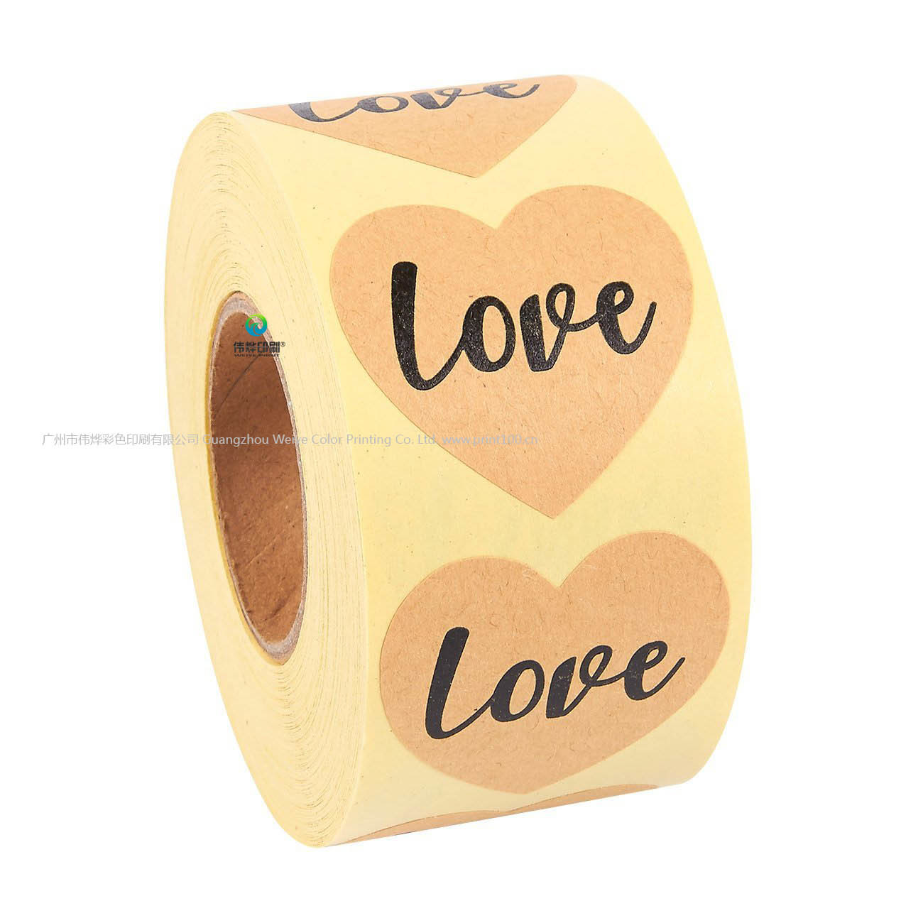 Hot item fancy custom printing adhesive kraft paper seal packaging thank you labels roll stickers