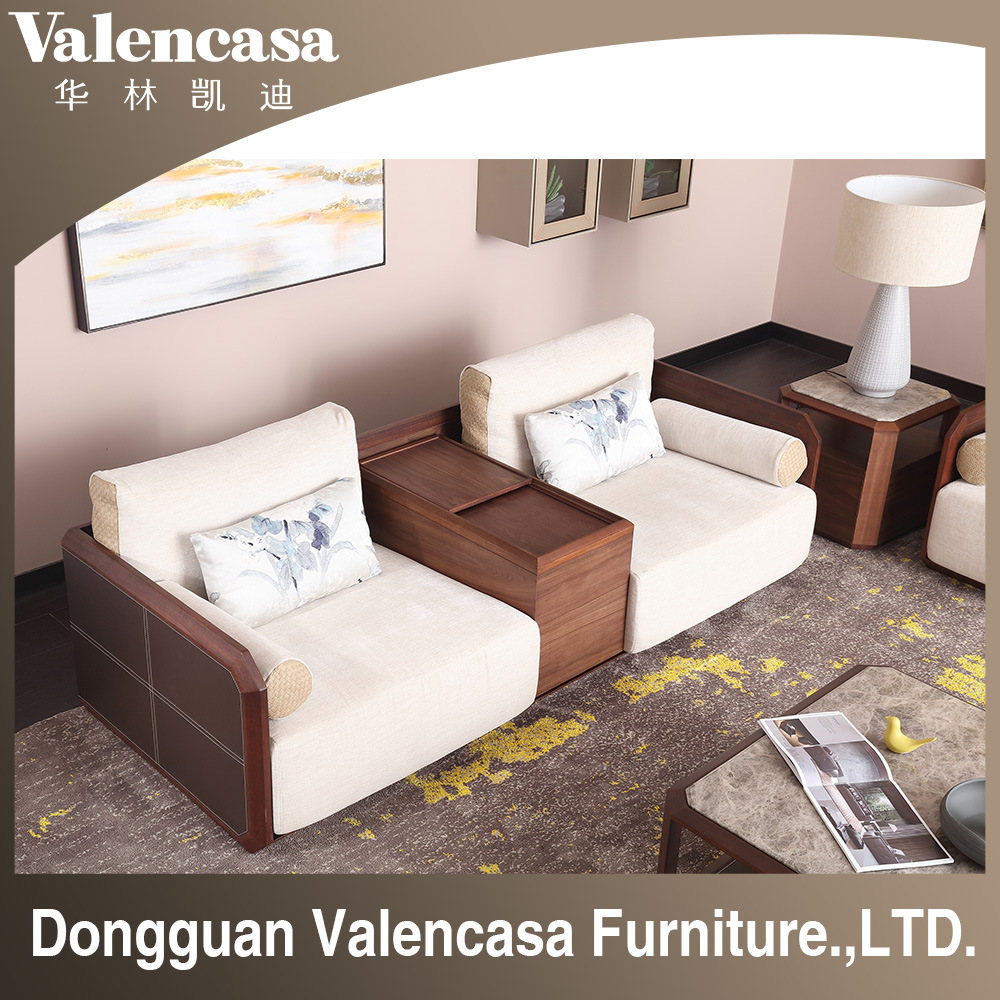 Furniture Leather Sofa Wooden