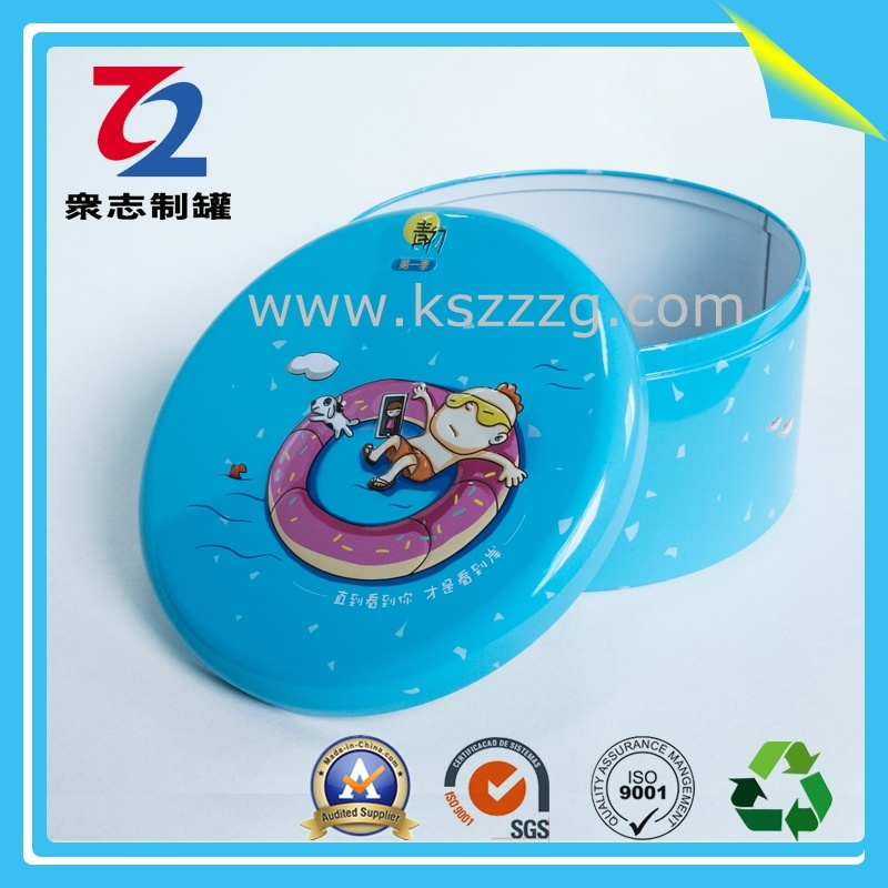 Customized Metal Round Chocolate Sweet Gift Tin Can/Tin Box pictures & photos