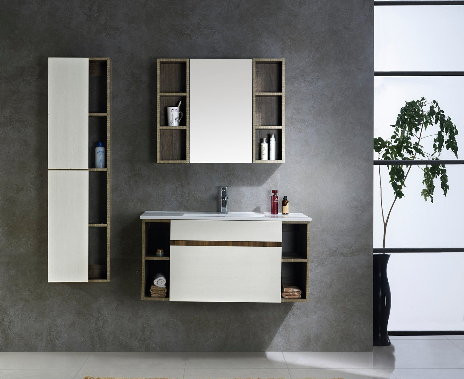Popular Small Design Bathroom Vanity Cabinet With Plywood Material And Soft  Closing Drawer (1094)