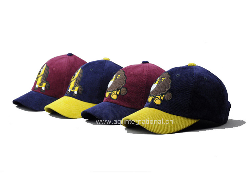 d59e05a3b578a China Custom 6 Panel Children Baseball Cap Corduroy Baseball Cap ...