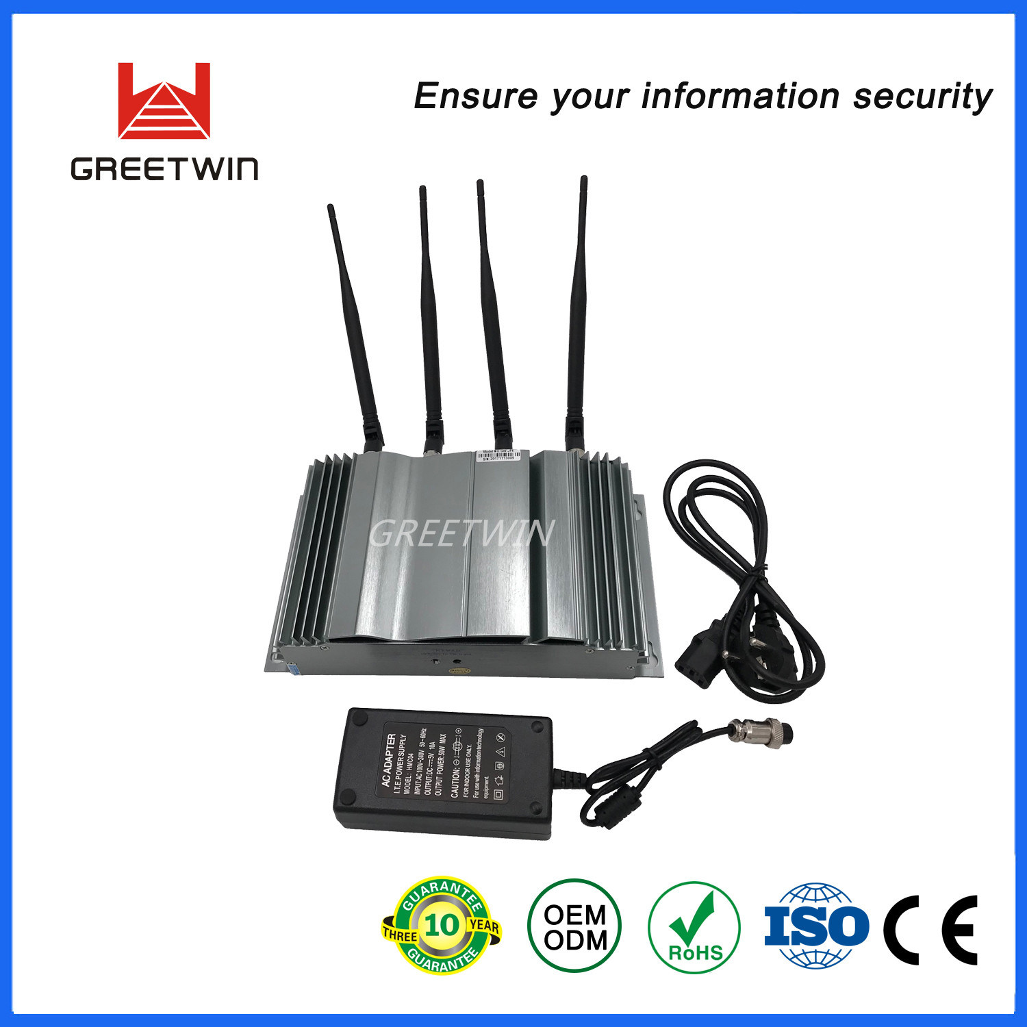 China Silvery 3G 2g Cell Phone GPS Signal Blocker for
