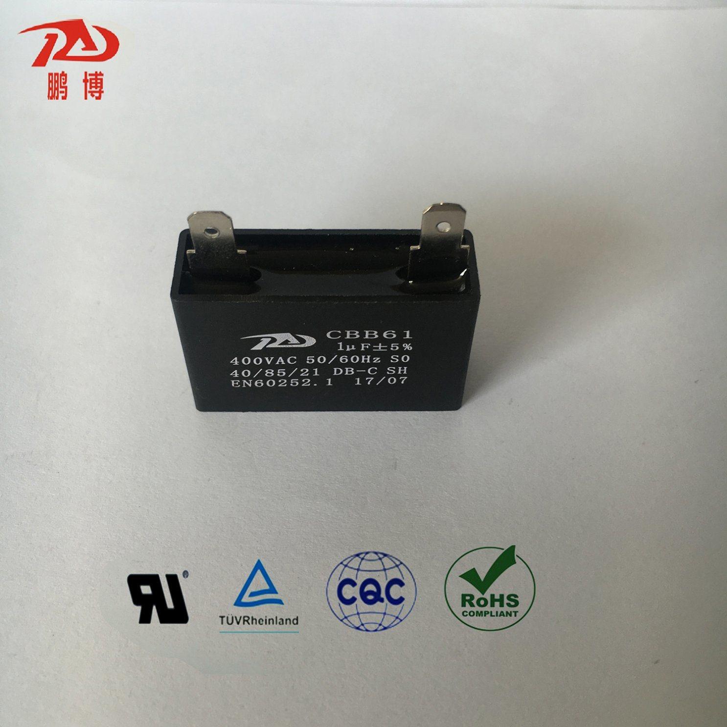 China Freezer Parts/Refrigerator- Cbb61 Wire Lead Cylinder Motor Run Sh  Capacitor (CBB61 1UF 400V) - China Cbb61, Freezers