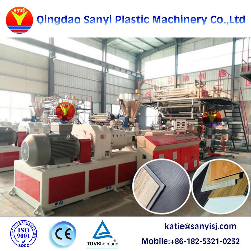 China Pvc Floor Tile Machinery Spc Floor Vinyl Tile Making Machine