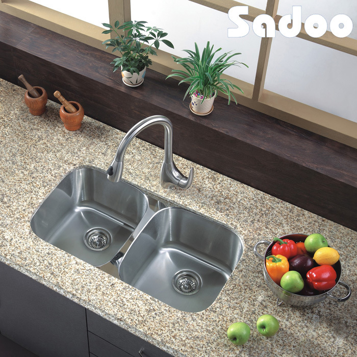 China Double Bowl Indian Kitchen Design Sink